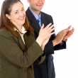 Business partners applauding — Stock Photo #7765195