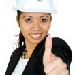 Asian female architect — Stock Photo