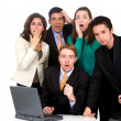 Stock Photo: Business team worries