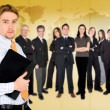 Businessman with business team — Stock Photo