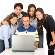 Students on a laptop — Stock Photo