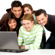 Group of happy students — Stock Photo #7765334