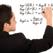Mathematicss teacher — Foto de Stock