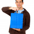 Man with a shopping bag — Stock Photo