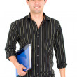 Male university student — Stock Photo