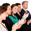 Stock Photo: Group of business applauding