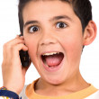 Good News on the phone - Stock Photo