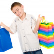 Child with shopping bags — Stock Photo