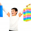 Child with shopping bags — Stock Photo #7765410