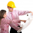 Couple of architects — Stock Photo