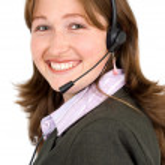 Customer service girl — Stock Photo