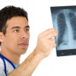 doctor looking at an xray — Stock Photo