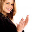 Royalty-Free Stock Photo: Business woman clapping