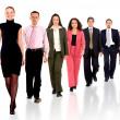 Бизнес-команда ходить вперед — Стоковое фото