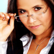 Business woman with glasses — Stock Photo #7765633