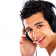 Man listening to music — Stockfoto