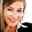 Business woman smiling — Stock Photo #7765662
