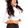 Fashion cowgirl — Stock Photo