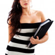 Sexy business woman — Stock Photo