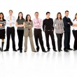 Foto Stock: Business team standing