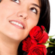 Woman with roses — Stock Photo #7765752