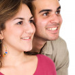 Stock Photo: Couple smiling