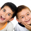 Children smiling — Stock Photo