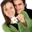 Couple with a flower - Stock Photo