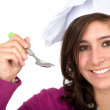 Chef with a spoon — Foto de Stock