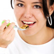 Stock Photo: Eating cereal