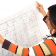 Stock Photo: Female interior designer