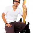 Stock Photo: Male guitarist