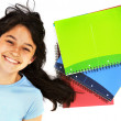 Stock Photo: Student with notebooks