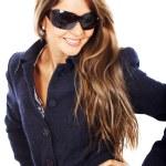 Smiling woman portrait - sunglasses — Stock Photo