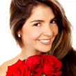 Woman with roses — Stock Photo #7765955