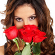 Stock Photo: Girl with roses