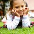 pequeño retrato de la muchacha — Foto de Stock