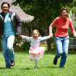 Family running — Stock Photo #7766075