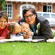 Family smiling — Stock Photo