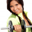 Woman doing freeweights — Stock Photo #7766468