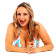 Royalty-Free Stock Photo: Happy bikini woman