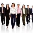Business team walking forward — Stock Photo