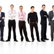 Stock Photo: Men only business team