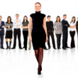 Business woman and team — Stock Photo #7766636