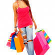 Woman out shopping — Stock Photo