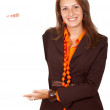 Stock Photo: Business wom- banner add