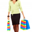 Woman out shopping — Stockfoto
