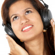 Stock Photo: Girl listening to music
