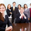 Business woman leading a team — Stock Photo #7766913