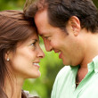 Happy couple face to face — Stockfoto